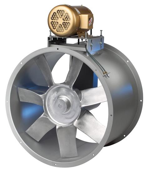Vane Axial Fan : Vane axial fans tube clean air exhaust dmc